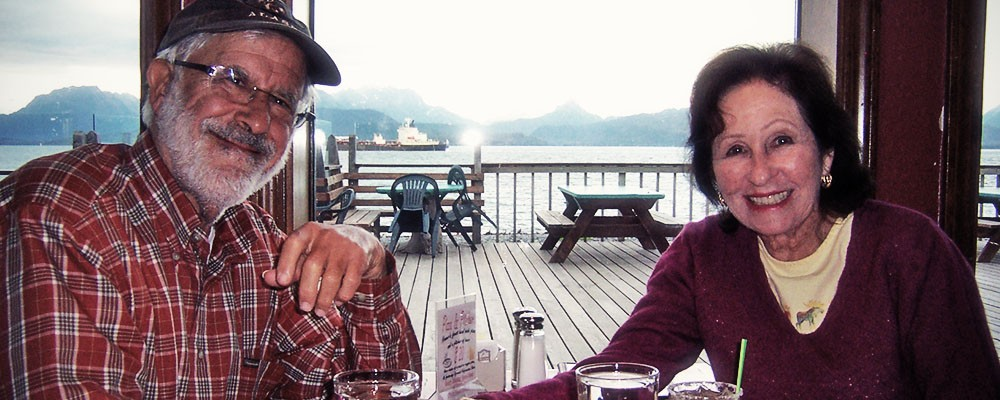 With my husband, Lloyd, in Alaska.